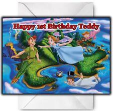 PETER PAN Personalised Birthday / Christmas / Card - Large A5  - Disney