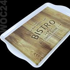 Bistro Kunststoff Melamin Serviertablett Frühstückstablett Tablett Betttablett