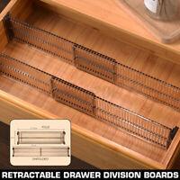 Adjustable Drawer Dividers Organiser Socks Make Up Plastic Closet Separator