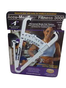 AccuMeasure Fitness 3000 Personal Body Fat Tester Caliper Gold Standard Accur 4A