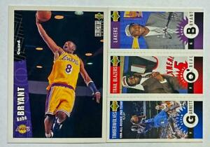 (2) Kobe Bryant 1996-97 UD Collector's Choice Triple Mini Rookie Lot RC LAKERS