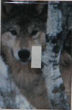 Wolf single light switch plate