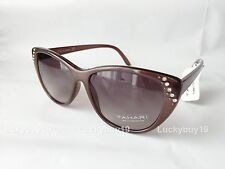 NWT TAHARI TH541 Authentic Designer Light Brown Crystal Sunglasses gift /419/New