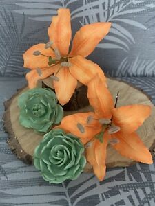 2 Day Lilly's Sugar Flower Cake Topper/Decoration