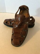 Cole Haan Brown Leather Men's Dressy Sandal With Nike Air Sole, Sz 9