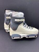 Razors G8 Off White Aggressive Inline Skates Mens Size 14 EUC