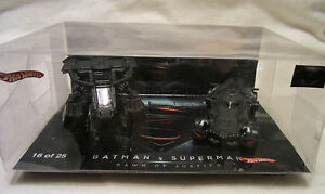 Hot Wheels CUSTOM BATMAN v SUPERMAN Dawn of Justice LTD #16 of 25 Display Case