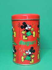 Mickey boite biscuit de Noël en fer / Cookie tin Box Christmas - Auguri - Disney