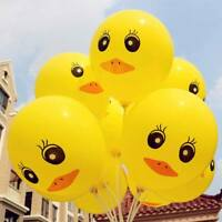 20pcs Yellow Duck Latex Balloons Kids Birthday Christening Party Decor