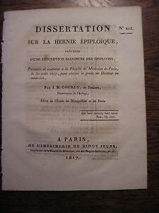 Thèse MEDECINE : l' HERNIE épiploïque et les épiploons  par Coudry - 1817