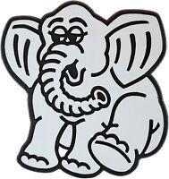 Auto 3D Relief Schild Elefant Elmar silbergrau Aufkleber 74 mm HR Art. 4845