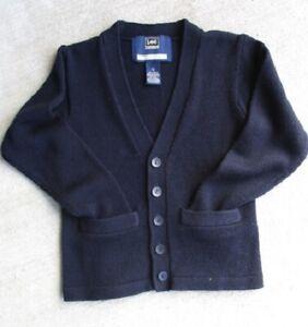Boys' 12 ® M.R. LEE School CARDIGAN Navy Blue Uniform Sweater