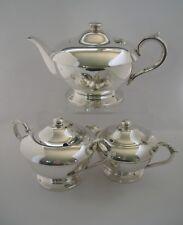 Vintage Silverplate EPNS A1 TEASET TEAPOT MILK JUG SUGAR BOWL 3 pce tea service