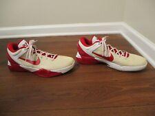 Used Worn Size 15 Nike Zoom Kobe VII Shoes Red White Cream