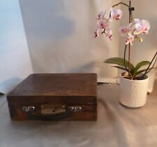 Stunning Antique Oak Jewellery Box with Later Additions-Working Lock and Key