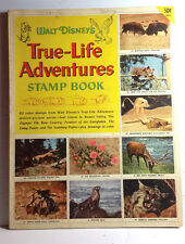 1955 Walt Disney TRUE LIFE ADVENTURES Golden Stamp Book- Used-FREE S&H (C6525)