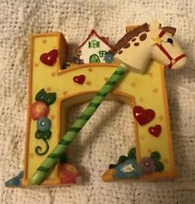 "Mary Engelbriet Collectible Alphabet Letter ""H"" Is For Horse & House"