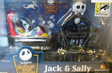 Disney Nightmare Before Christmas Jack Skellington and Sally Paperweight Set NEW