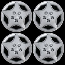 "14"" Set of 4 Wheel Covers Snap On 5 Star Full Hub Caps fit R14 Tire & Steel Rim"
