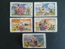 5 TIMBRES COLLECTION COMPLETE SOURIRE VACHE FRANCE 2007