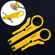 2pcs RJ45 Cat5 Punch Down Tool Network UTP LAN Cable Wire Cutter Stripper  Tool