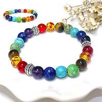 Nouveau 7Chakra Healing Balance Perles Bracelet Pierre Naturelle Bijou ST