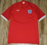 ENGLAND 'Umbro' Football Red AWAY Shirt 2010-2011 Size XXL
