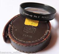 Nikon F 52mm Close Up No. 2 Nippon Kogaku Leather Case - Fair Japan - USED D11