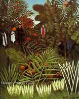 "Henri Rousseau The Dream Art Nude Woman on Sofa in Jungle 8.5x11/"" Photo Print"
