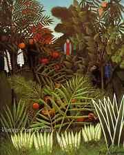 Exotic Landscape by Henri Rousseau - Art Jungle Monkey Bird Fruit 8x10 Print 606