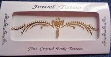 LOW BACK  CRYSTAL BODY TATTOO IN GOLD WITH  DANGLES