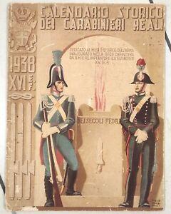 CALENDARIO STORICO CARABINIERI REALI 1938