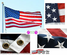 *USA MADE HEAVY DUTY 3x5 US AMERICA EMBROIDERED/&SEWN 600D 2PLY//SIDED FLAG BANNER