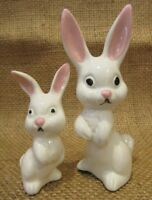 6 Vintage Easter BUNNY RABBIT FAMILY PORCELAIN mini figures decor