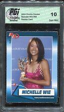 2004 Michelle Wie  Rookie Review RC  PGi  10 Gem Mint   LPGA  Stanford