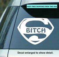 "5.5""  Super B*tch vinyl Decal Sticker car truck Yeti Cup, Window, Ipad, Laptop"
