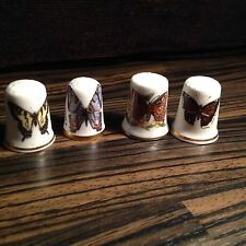 Thimbles - Set of 4, Butterflies - Made in Britain (b35)