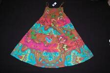 NWT GAP Kids Summer Dress S 6 7 Sundress Longer Length Tier Brown Aqua Print NEW