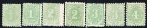 NEW SOUTH WALES AUSTRALIA 1891/2 POSTAGE DUE STAMP Sc. # J1/5 INCLUDED 3b/4b MH