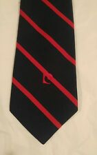 Vintage Pierre Cardin Navy Blue & Red Woven and Embroidery Necktie Tie AUTHENTIC