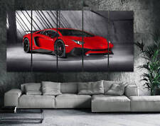 Aventador Canvas Print 5 piece Lamborghini Art 95in x 47in