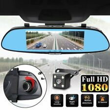 "7"" 1080P Dual Lens Car DVR Front Mirror Dash Cam Reversing Camera Video Recorder"