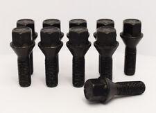 10 X M12 X 1,5, 26mm Rosca, Cónico Pernos de Rueda (Negro)