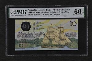 "1988 Australia Reserve Bank 10 Dollars ""Commemorative"" Pick#49b PMG 66 EPQ UNC"