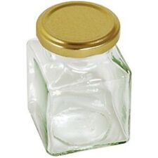 200ml 7oz Square Jar With Gold Screw Top Lid - Tala Preserving Kitchen Home New