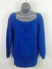 WOMENS BANANA REPUBLIC BLUE LONG SLEEVED LIGHT WEIGHT JUMPER CASUAL SIZE X LARGE