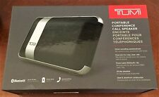 TUMI Portable Bluetooth Conference Call Speaker Black MSRP $200 NEW