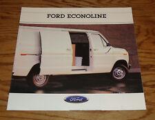 Original 1988 Ford Econoline Van Sales Brochure 88 E-150 E-250 E-350