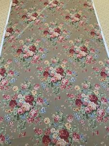 Ralph Lauren Floral Upholstery Fabric Linen or Cotton Cabbage Rose 5+ Yds NEW