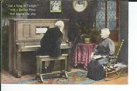 AY-251 - Cecillian Player Piano, 1907-1915 Golden Age Advertising Postcard